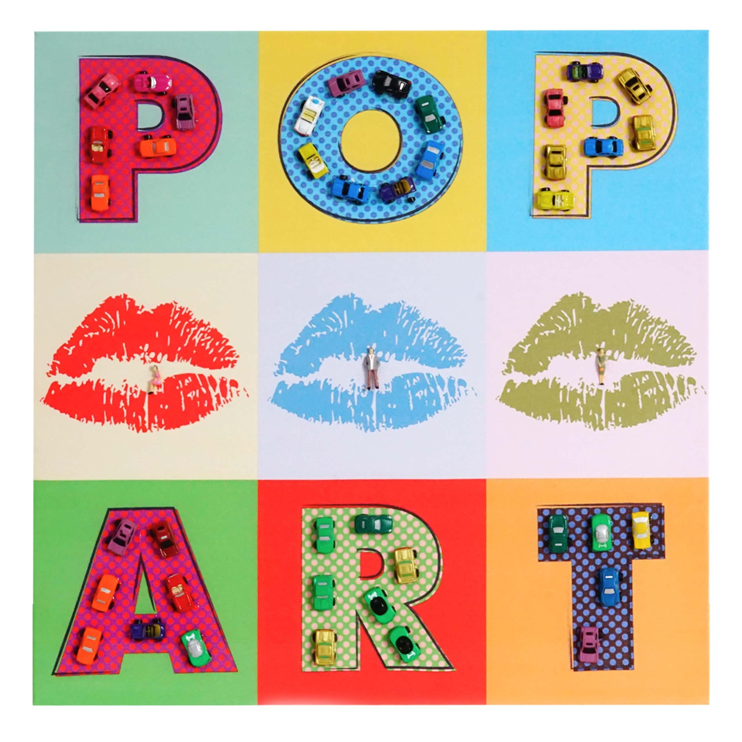 Cuadro pop art 60x60x3 cm pintado a mano al leo - Mobiliario pop art ...