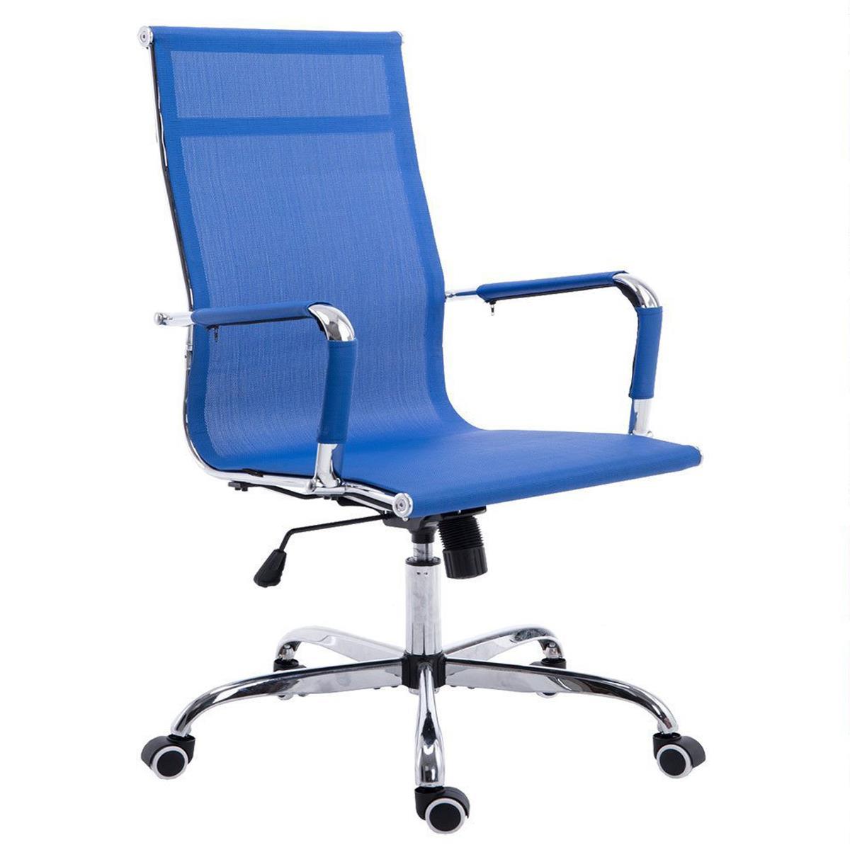 Silla de oficina italica en color azul silla de oficina for Sillas de oficina de diseno