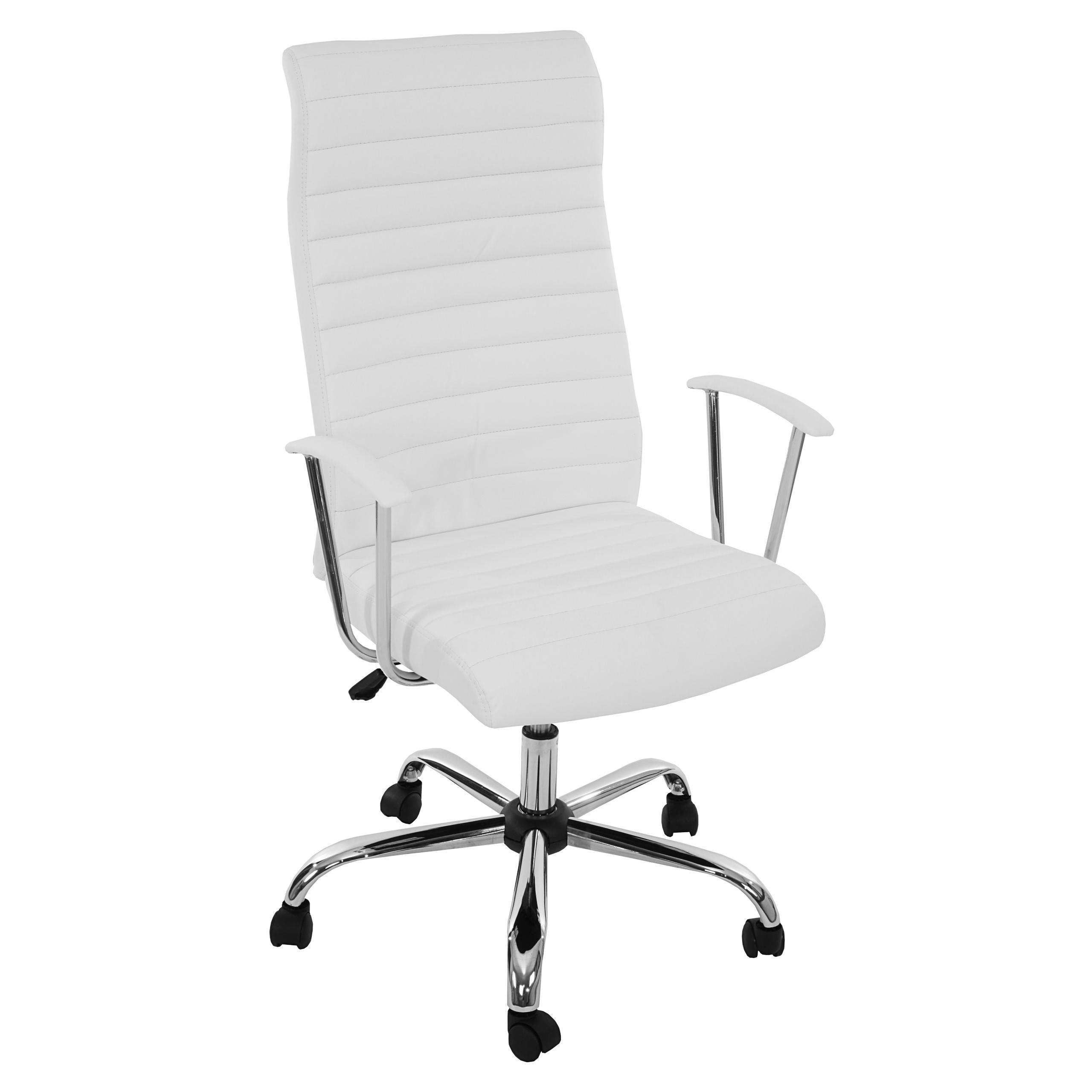 DEMO# Sillon de Diseño ARUCAS, Gran acolchado, estructura metálica, en piel color blanco