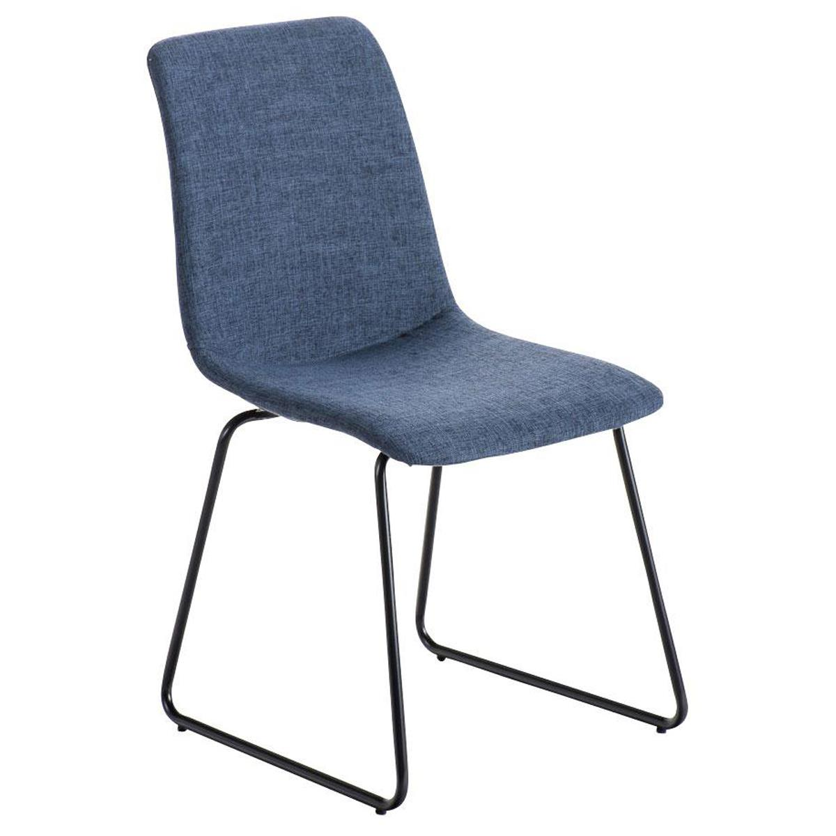 Silla de Confidente FRANCESC, Diseño Exclusivo, Tapizada en Tela color Azul