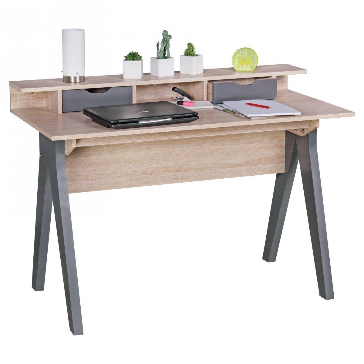 Mesa de ordenador mila superficie en madera 120x59x86 cm mesa de ordenador mila dise o - Mesas de ordenador ...