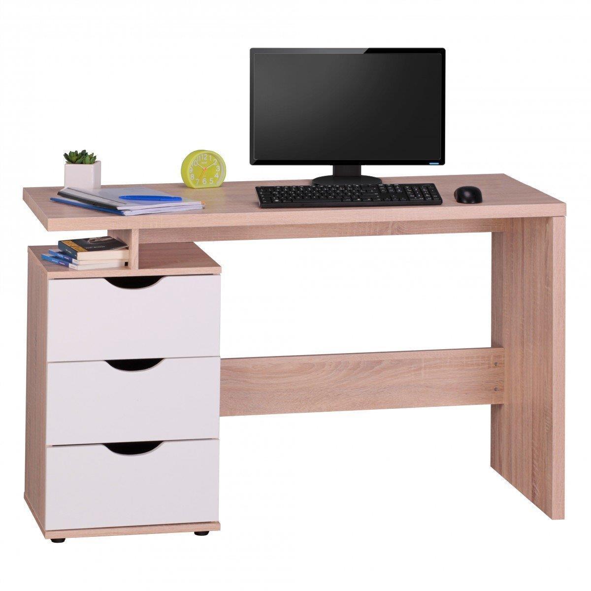 Mesa de ordenador natali en madera 120x53x76 cm mesa for Diseno mesa de trabajo