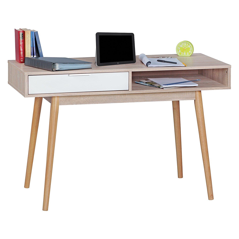 Mesa de ordenador berry superficie en madera 90x45x78 cm - Mesas de ordenador de diseno ...