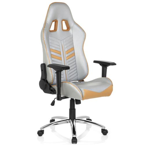 Silla gaming targa reclinable con cojines en plata y for Rebajas sillas gaming