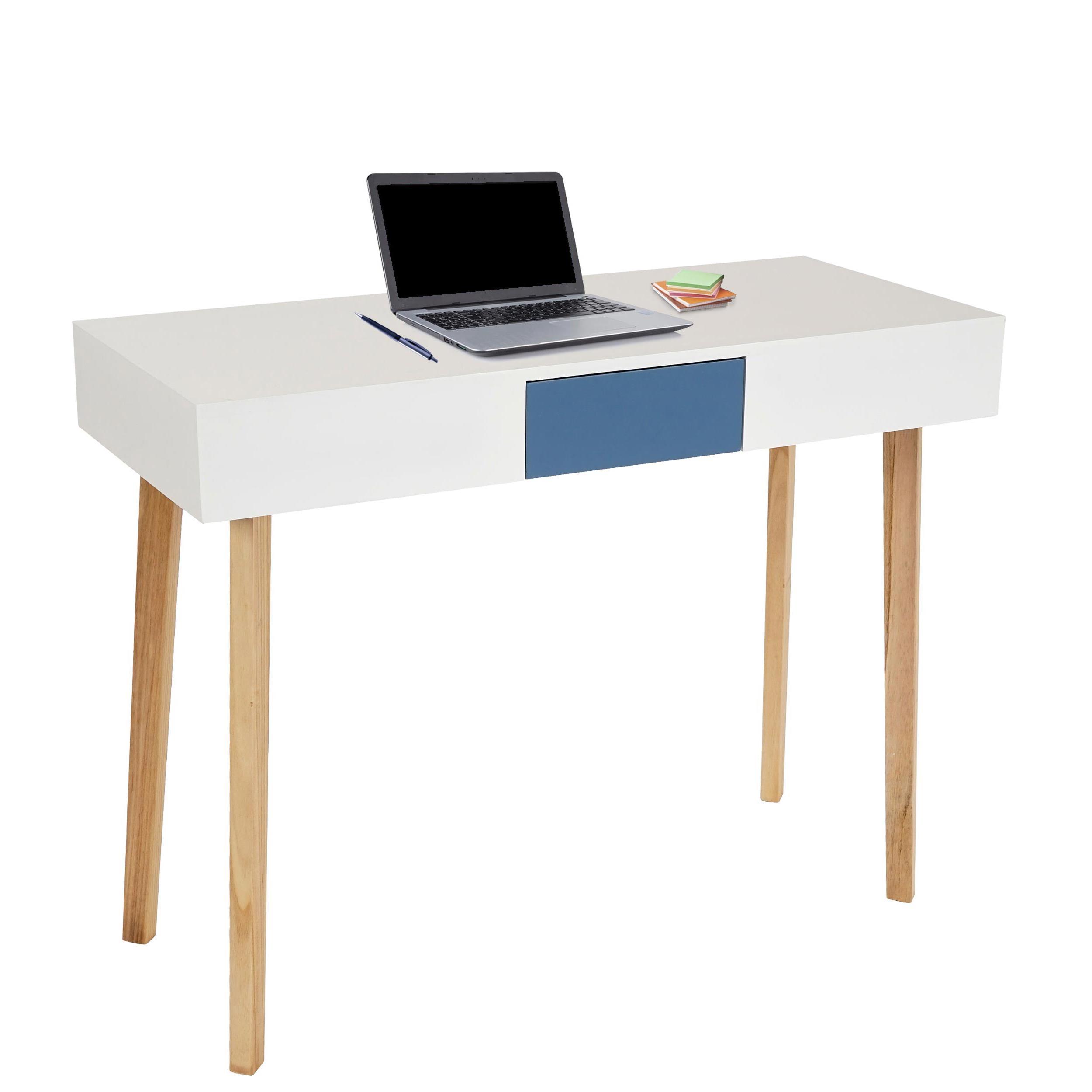 Mesa de ordenador conel superficie en madera 120x55x82 cm mesa de ordenador conel dise o - Mesa madera diseno ...