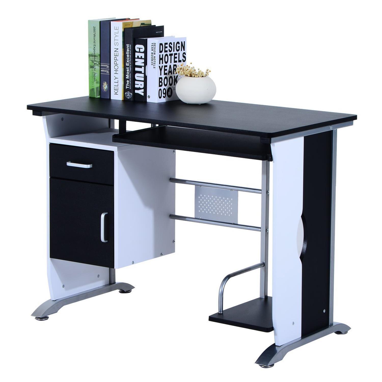 Mesa de ordenador siam en madera color negro mesa para for Mesas de ordenador de diseno