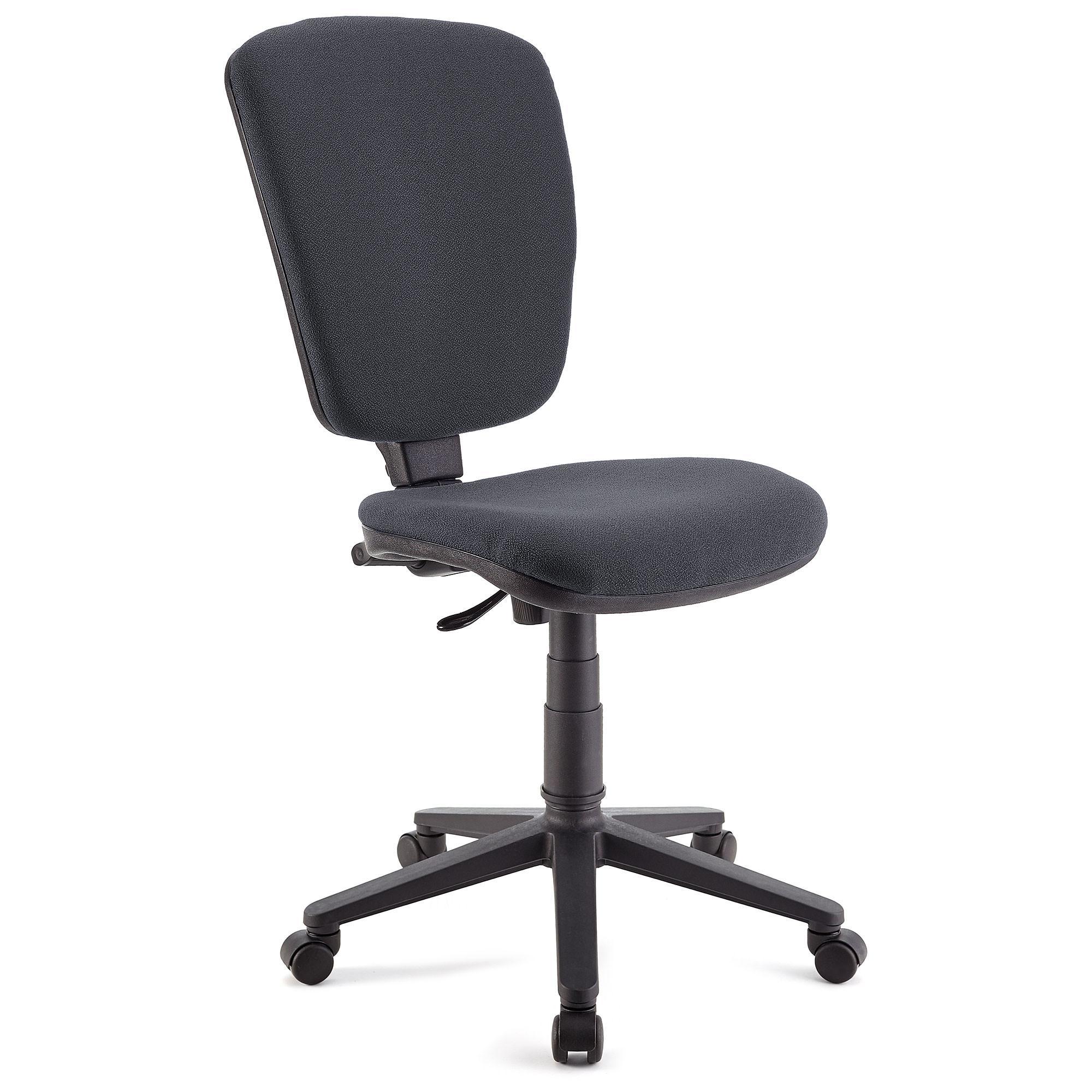 Silla de oficina calipso sin brazos respaldo ajustable for Sillas color gris