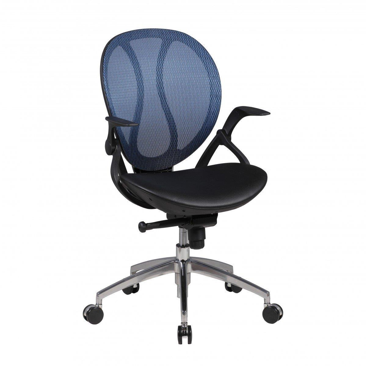 Silla Ergonómica TELMA, Brazos Regulables en Malla Transpirable color Azul