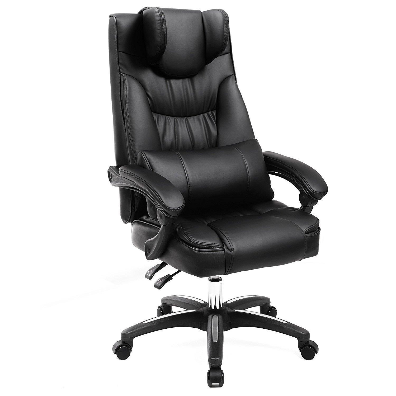 Sill n de oficina bony gran acolchado reclinable en for Sillas comodas para trabajar