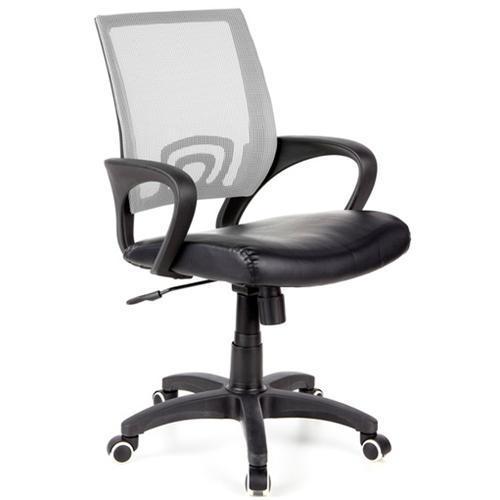Silla de oficina visto con asiento acolchado en gris for Asiento silla oficina