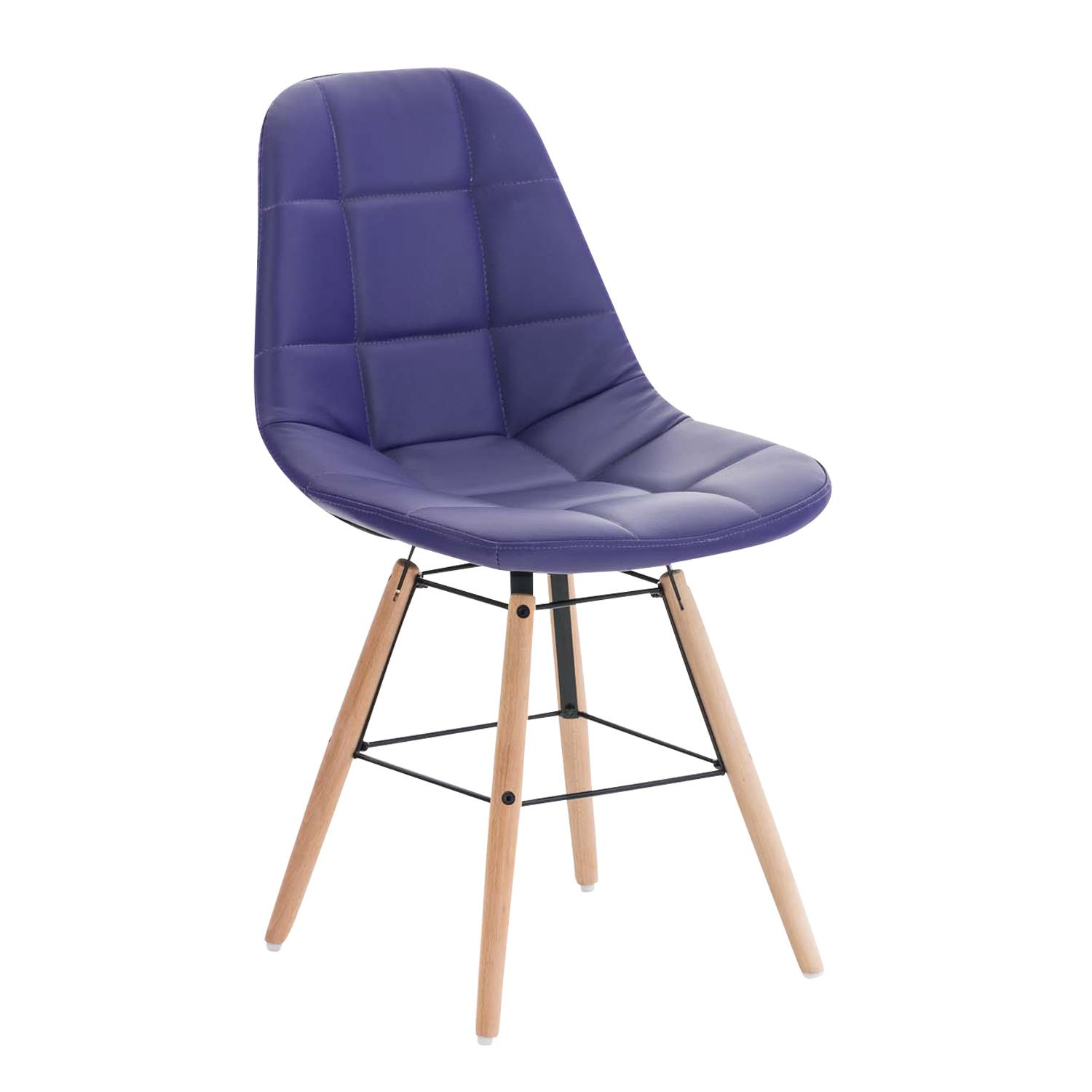 Silla de Confidente TOMMY PIEL, Exclusivo Diseño, Color Morado