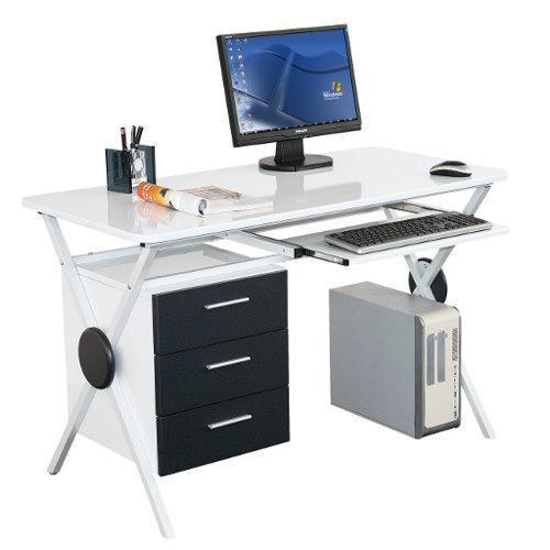 mesa de ordenador exica precioso dise o en blanco