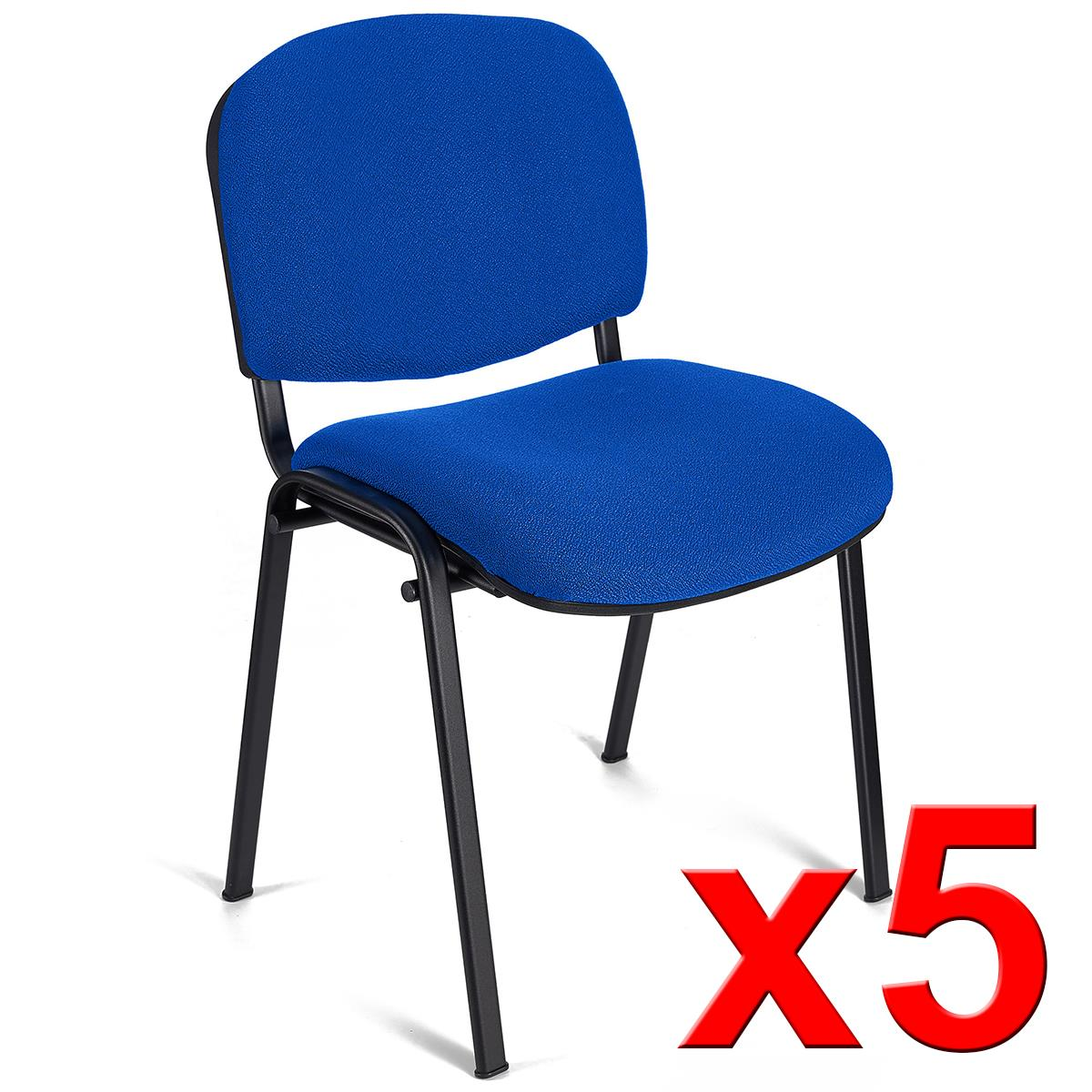 Lote 5 sillas de confidente moby base color azul lote for Silla para computadora precio
