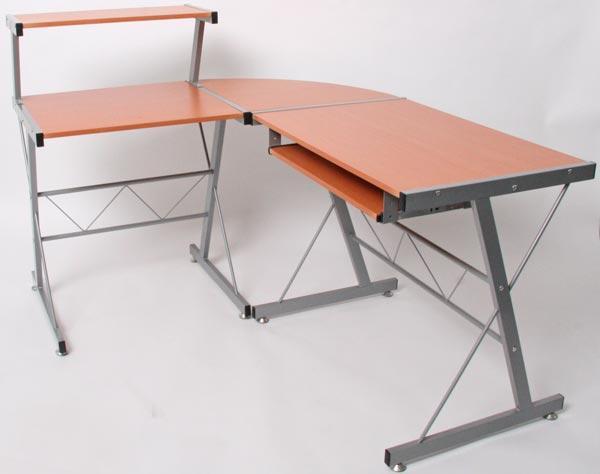 Mesa de ordenador easy line madera color haya - Mesa ordenador madera ...