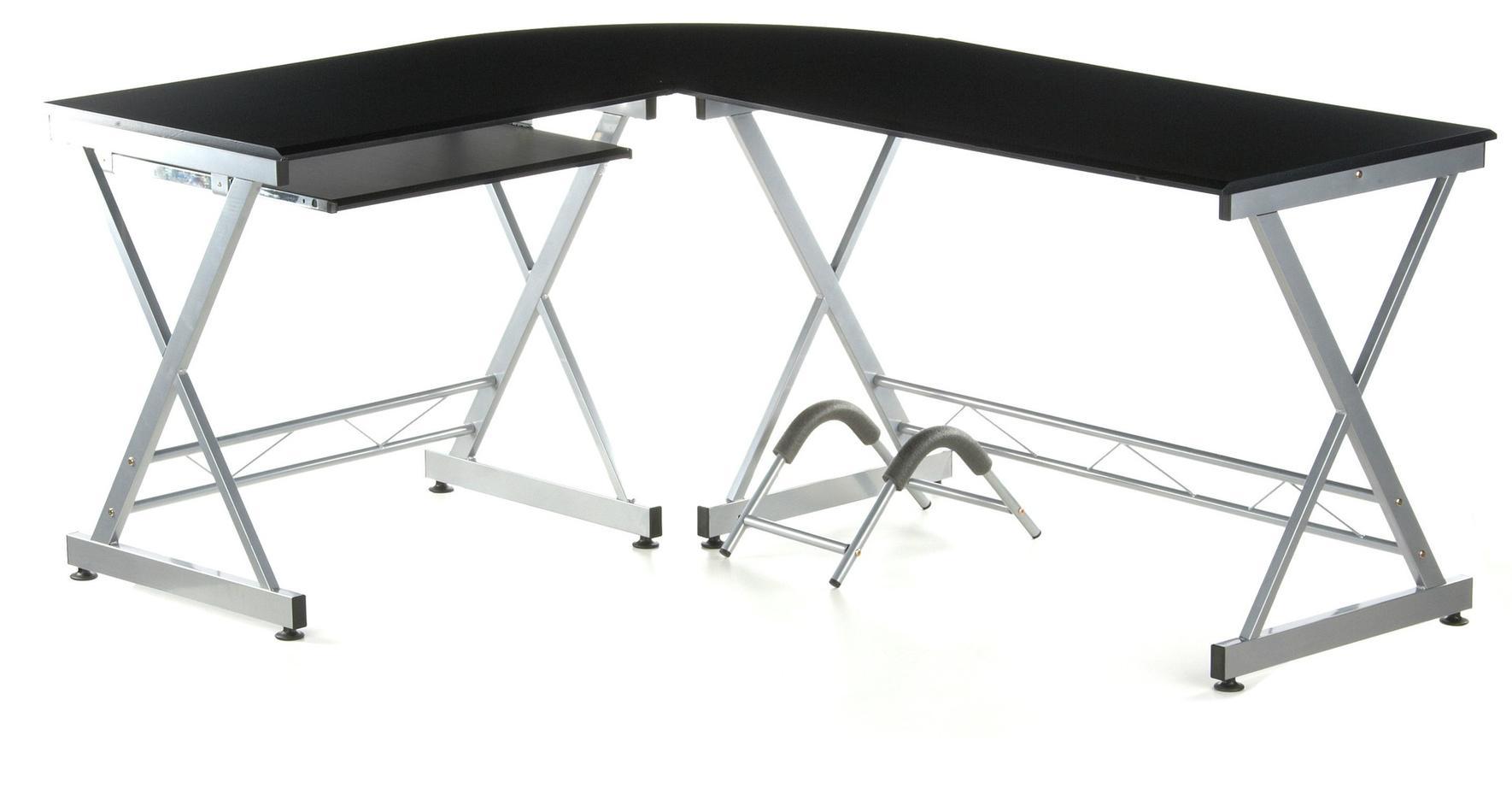 Mesa de ordenador en madera y aluminio easy go 75x173cm - Como hacer una mesa de ordenador ...