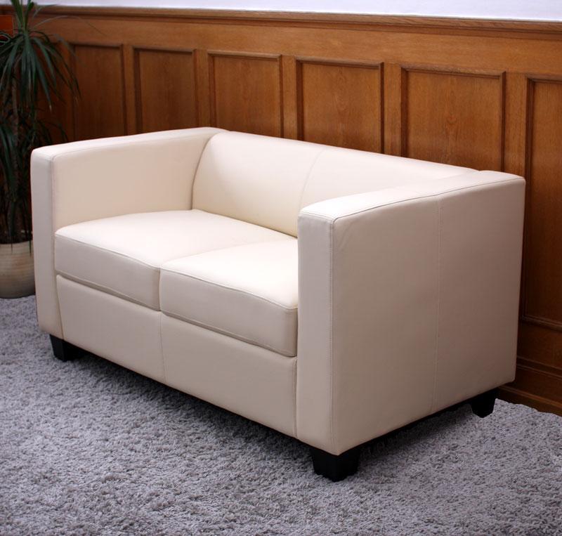 sofas de diseno en piel sof 2 plazas basilio muy c modo en piel color crema sof de 2 plazas basilio dise o