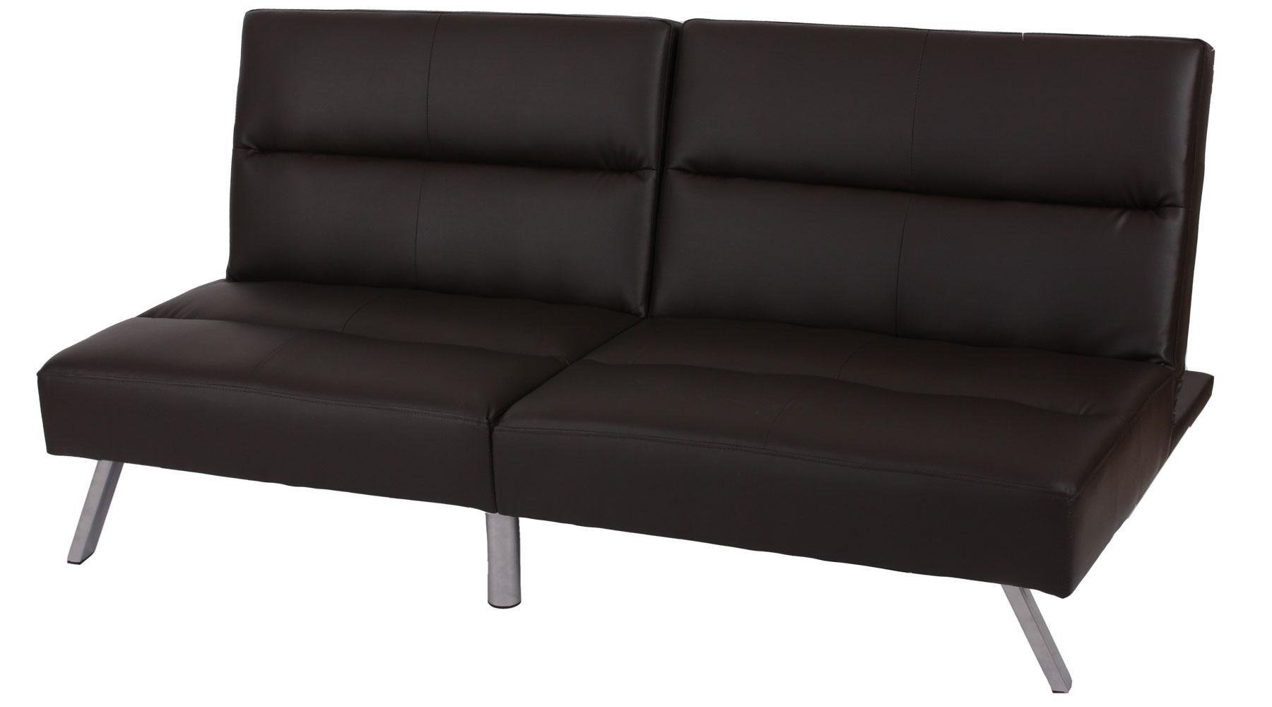 Sof plegable de 3 plazas romeo muy vers til y c modo en piel color marr n sof plegable 3 - Sofas muy comodos ...