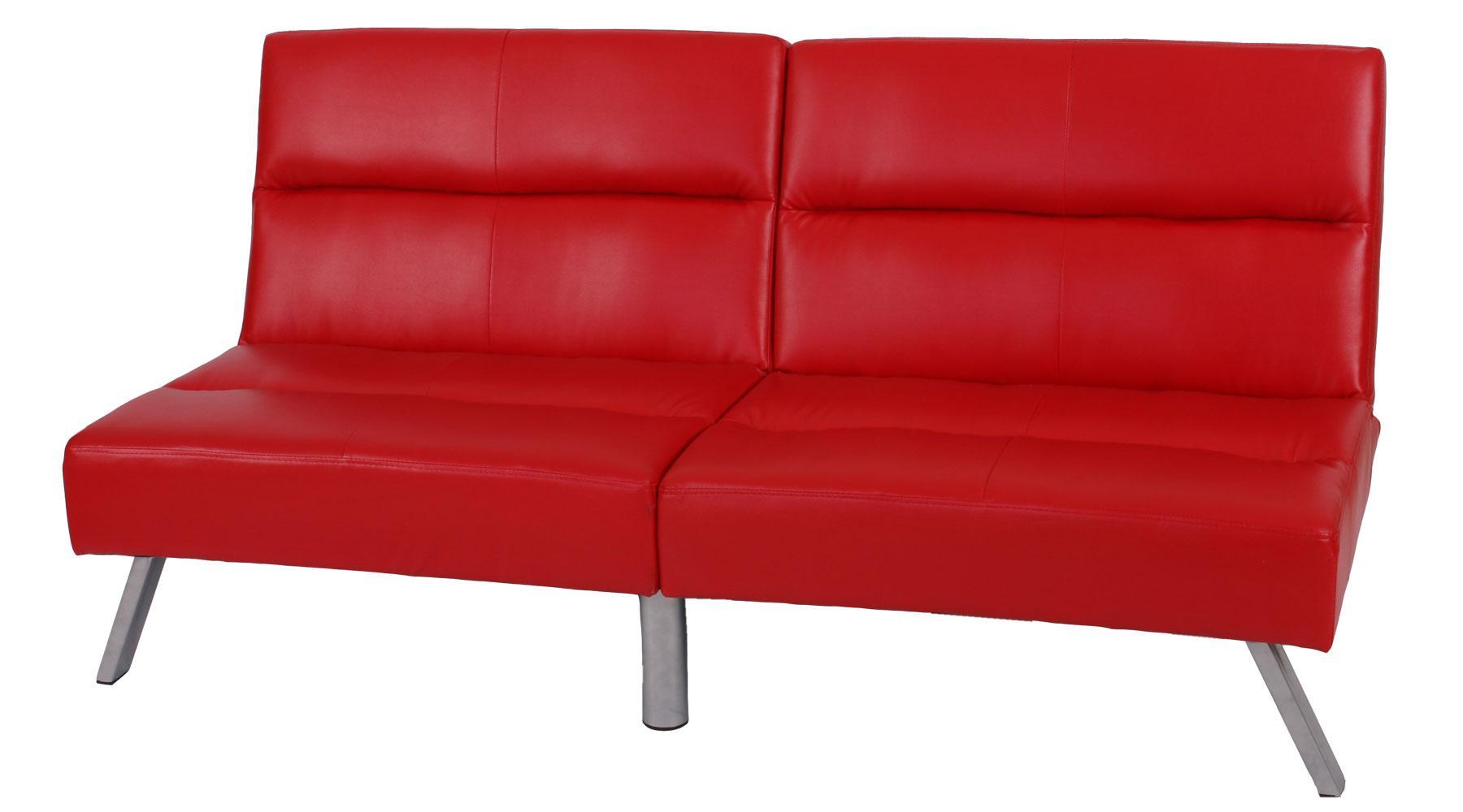 Sof plegable de 3 plazas romeo muy vers til y c modo en piel color rojo sof plegable 3 - Sofas muy comodos ...