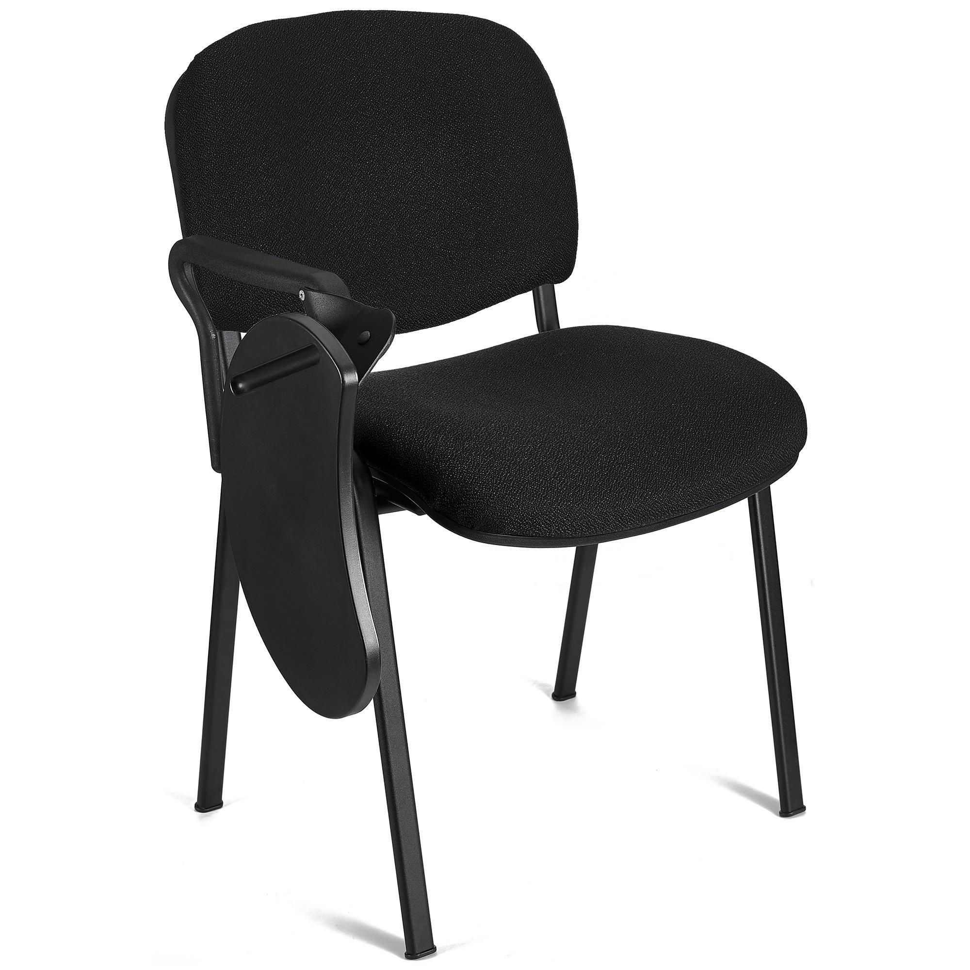 Lote 5 sillas de confidente moby con pala escritura en negro lote de 5 sillas de confidente - Sillas negras ...