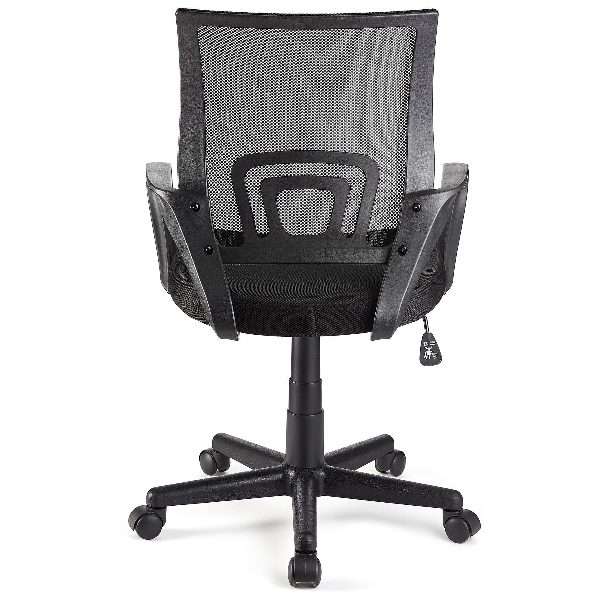 Silla de oficina seul con asiento acolchado en negro for Silla oficina diseno