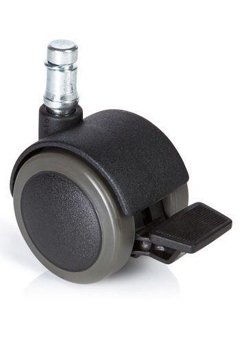 5x ruedas para suelos duros 11mm 50mm con freno for Rueditas para sillas oficina