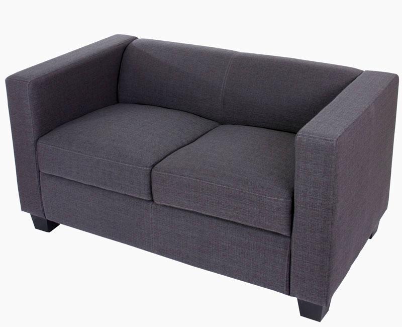 Sof 2 plazas basilio muy c modo en tela gris sof de for Sofa gran confort precios