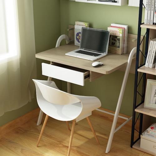 Mesa de ordenador dise o galileo en madera con balda en for Dimensiones mesa escritorio