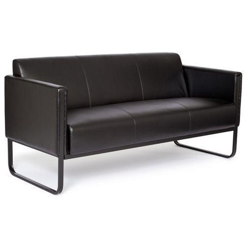 Sof de dise o modelo bosco black elegante y moderno dise o tapizado en piel color negro con - Sofas de diseno en piel ...
