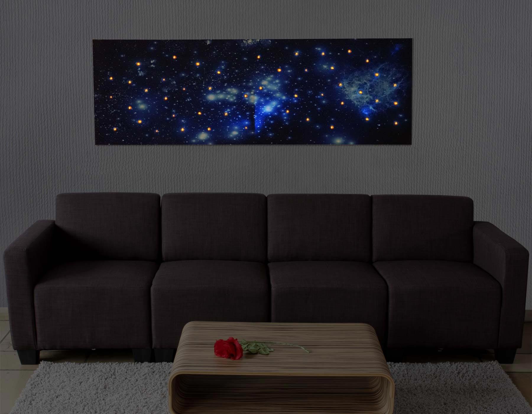 Cuadro led universo con iluminaci n 40x120 cm cuadro con iluminaci n led universo - Iluminacion para cuadros ...