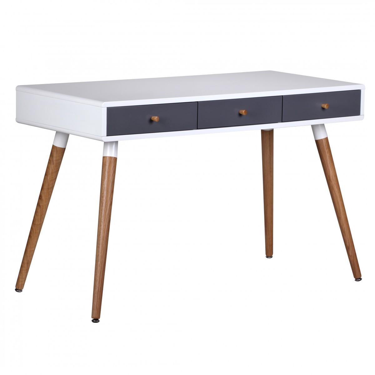 Mesa de ordenador robert superficie y patas en madera for Mesas de ordenador de diseno
