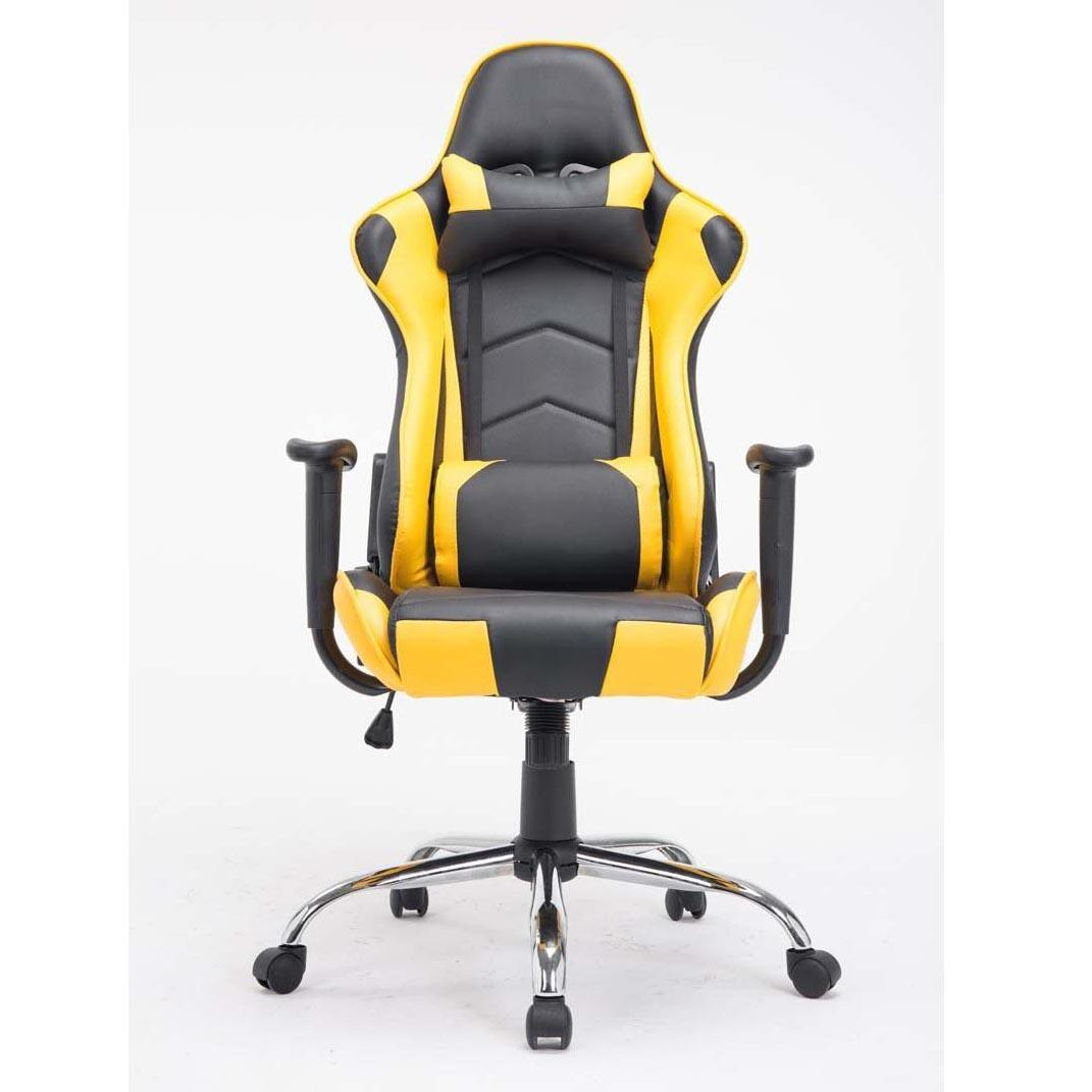 Silla gaming zelda reclinable con cojines en piel color negro amarillo silla gaming zelda - Silla 1 2 3 reclinable ...