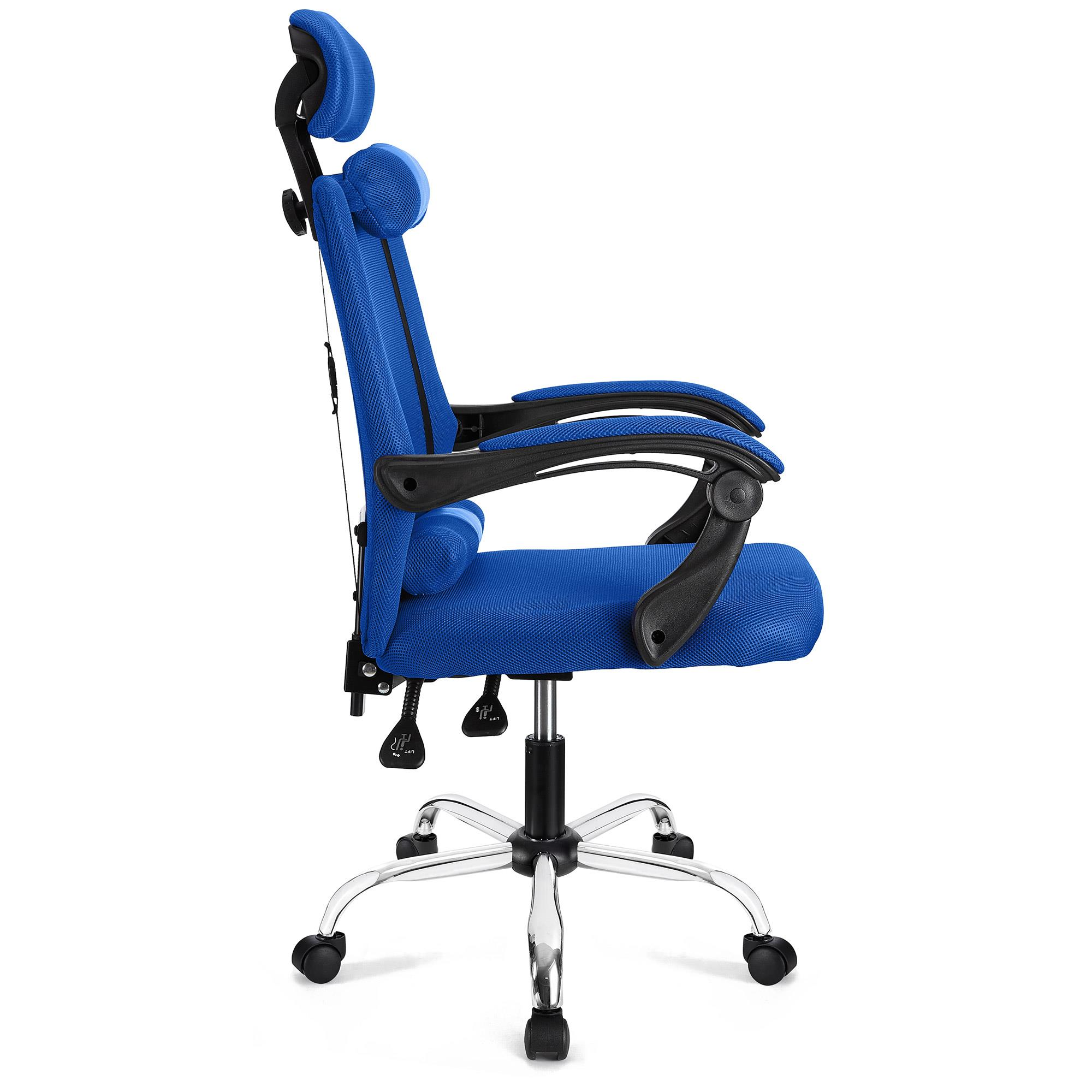 Silla ergonomica fabio reclinable en malla transpirable color azul silla ergon mica fabio - Silla 1 2 3 reclinable ...
