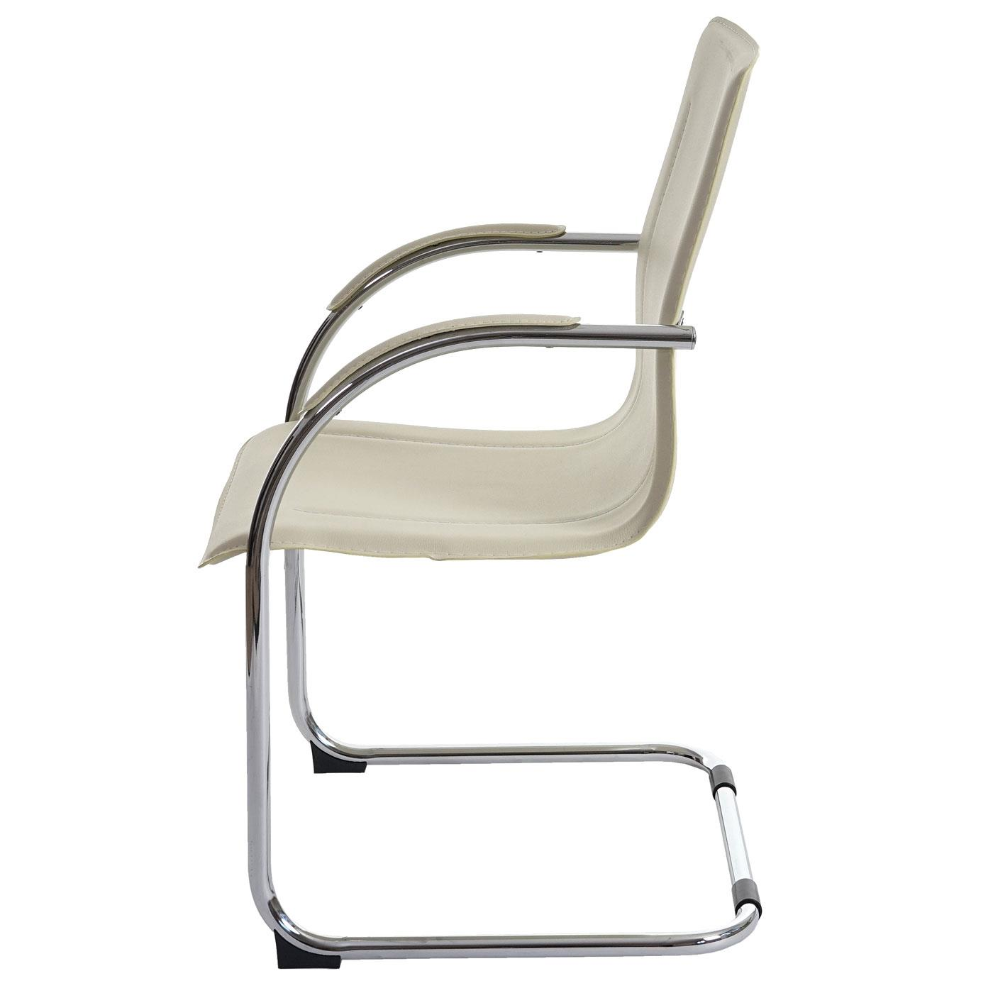 7bbf8180d DEMO# Silla de Confidente ZEUS, Estructura metálica, Exclusivo Diseño y  Tapizada en Piel color Crema