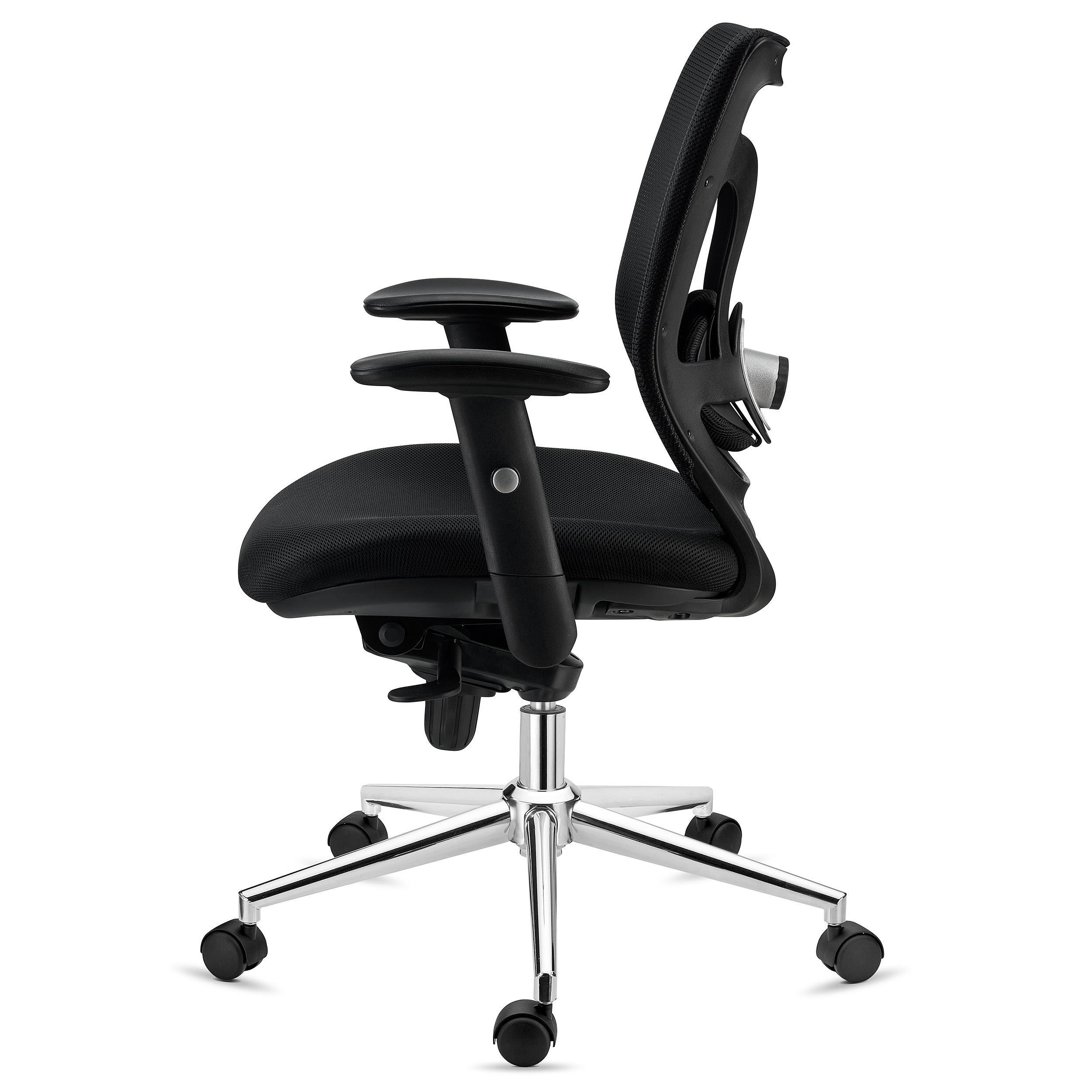 Silla de oficina ergonomica lambo soporte lumbar en for Soporte lumbar silla oficina