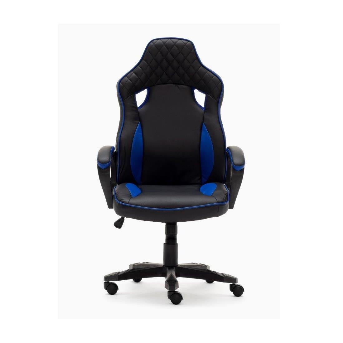 CosturasEn Azul Silla HamiltonBasculanteTapizado Con Gaming Y Negro PukiZX