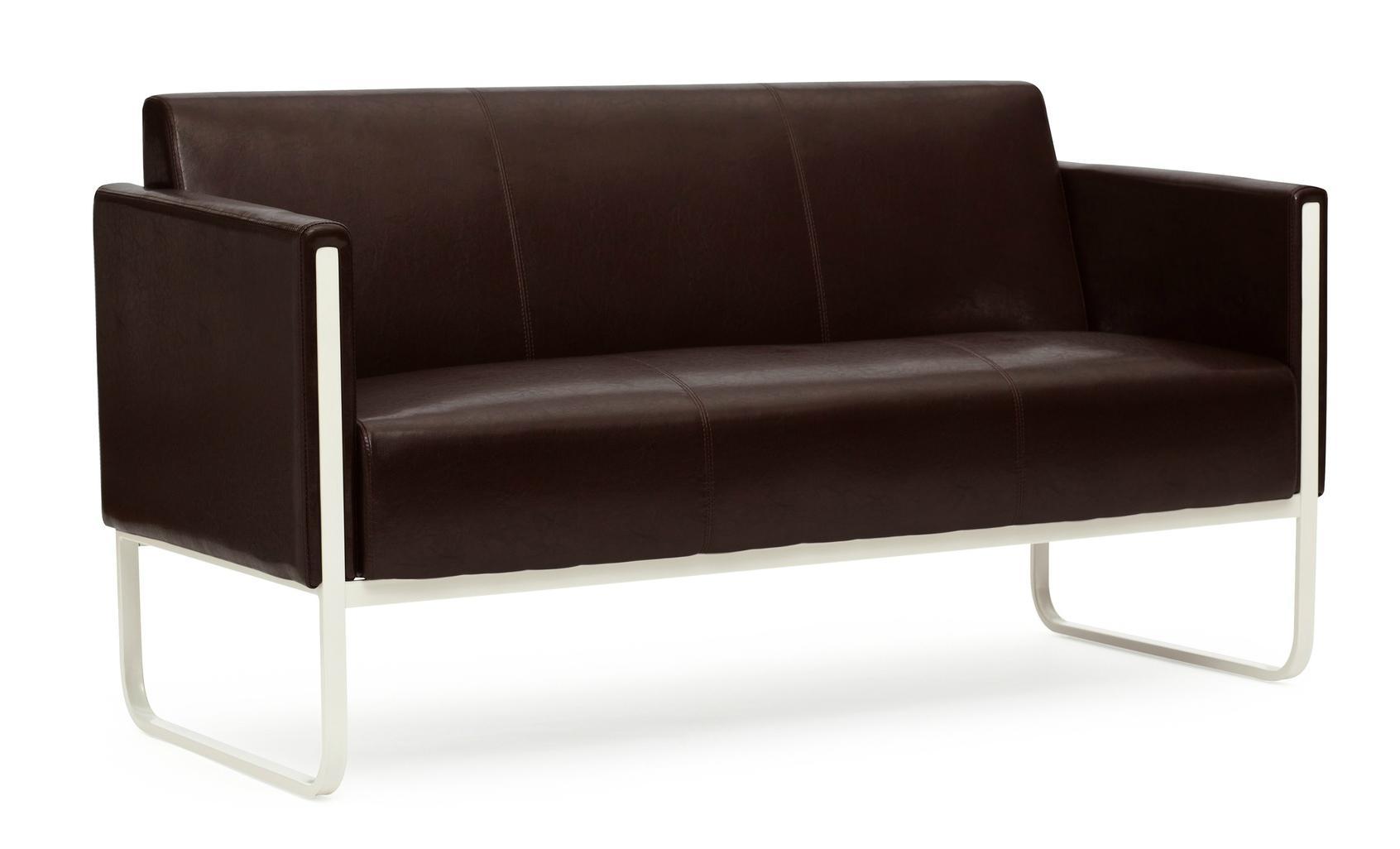 Sofa 3 plazas aruba con costuras en marr n sofa 3 - Sofas elegantes diseno ...