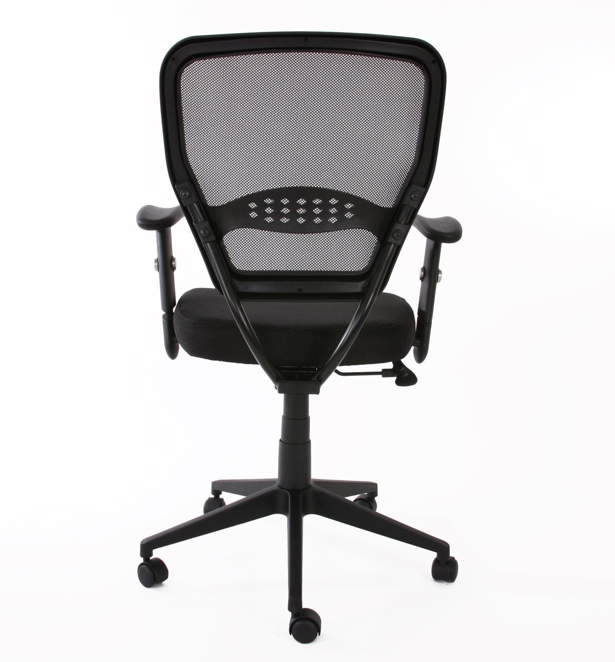 Silla de oficina xxl tenoya acolchado en malla negra for Asiento silla oficina