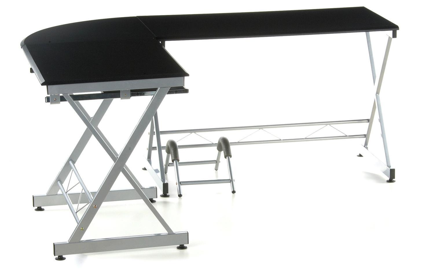 Mesa De Ordenador En Madera Y Aluminio Easy Go 75x173cm Mesa De  ~ Mesas De Escritorio Para Ordenador