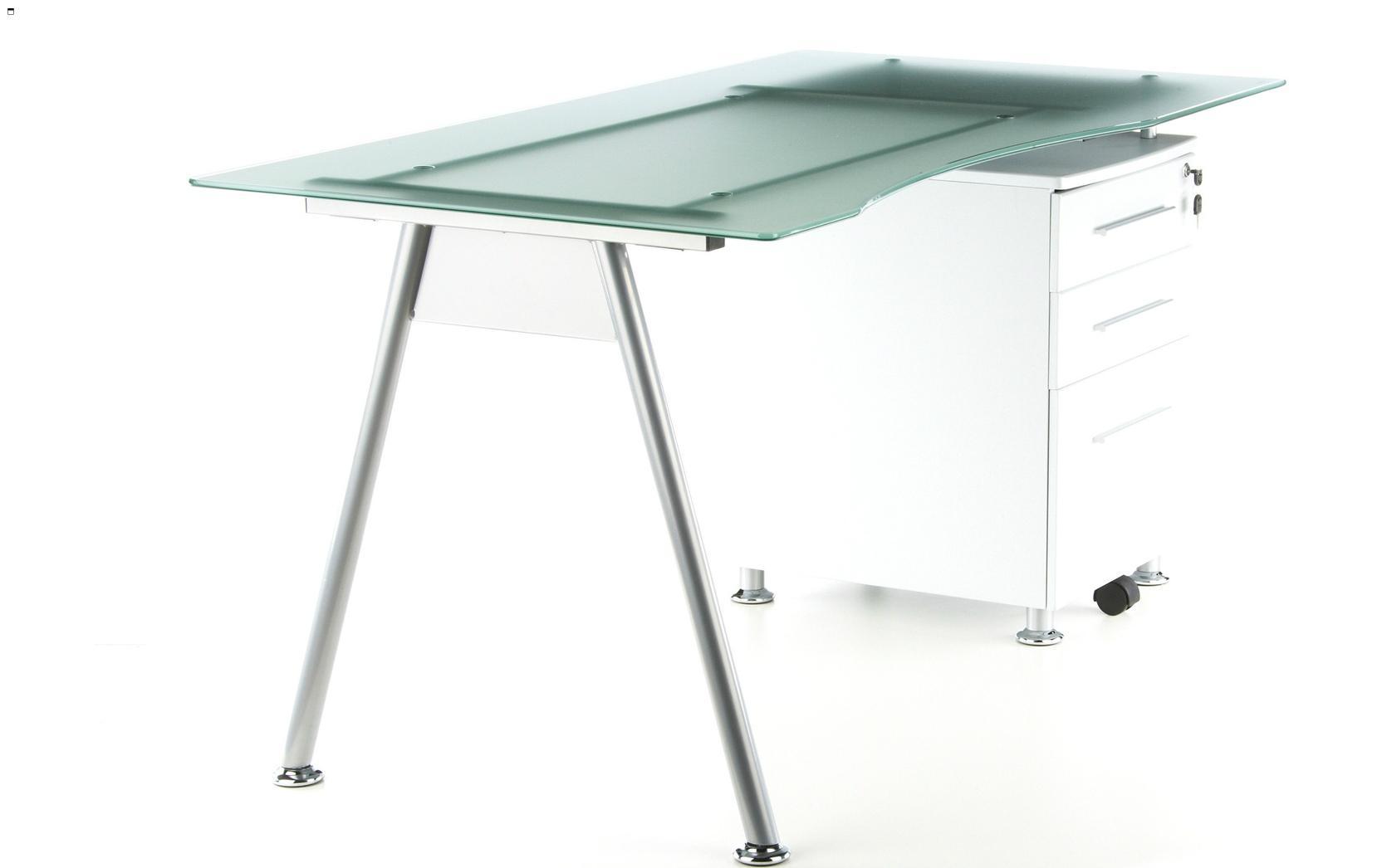 Gran mesa de ordenador start up cristal templado - Mesas cristal templado ...