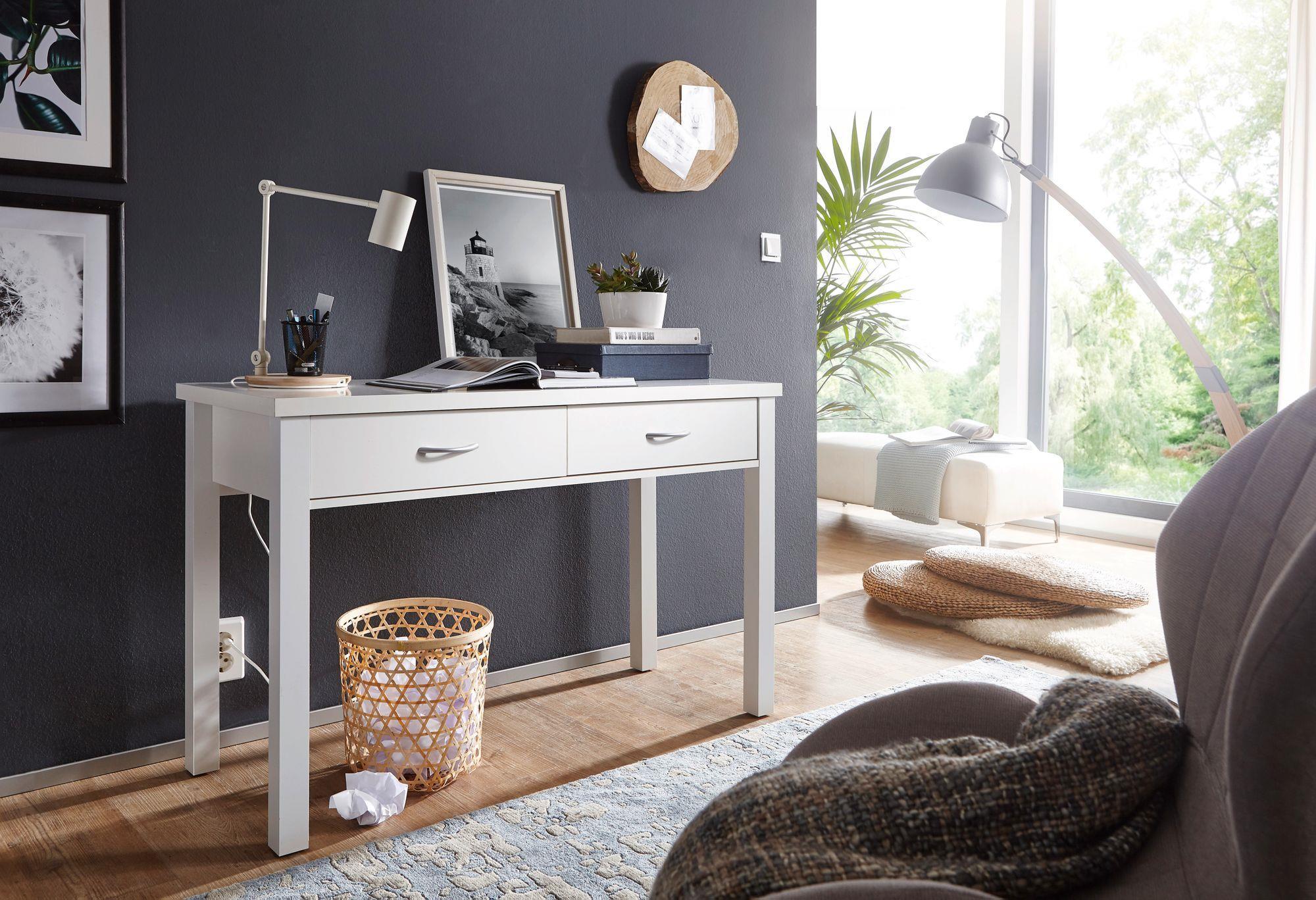 Mesa de escritorio berkley dos amplios cajones color - Mesa escritorio con cajones ...