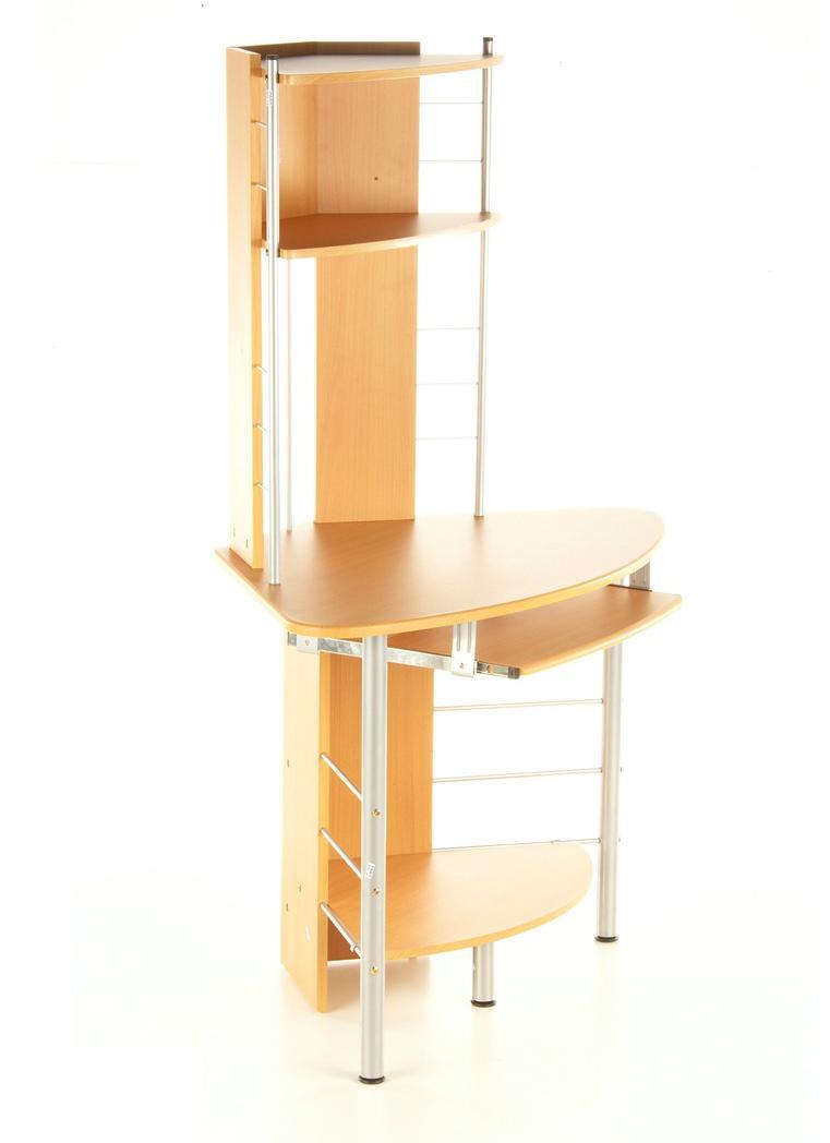 Mesa esquinera de ordenador corner max de aluminio y for Mesa esquinera madera