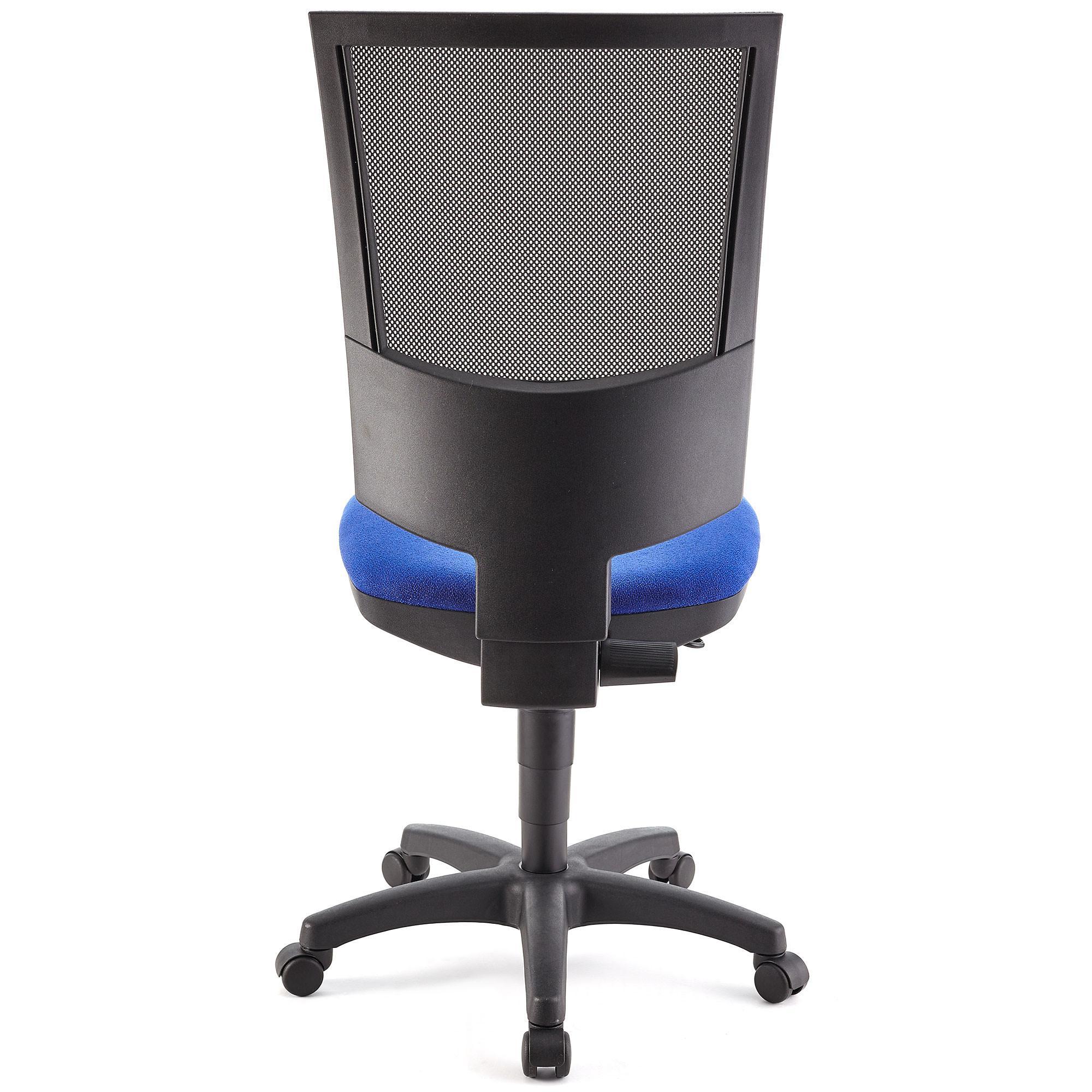 Silla de oficina pandora sin brazos respaldo ajustable for Silla escritorio sin ruedas