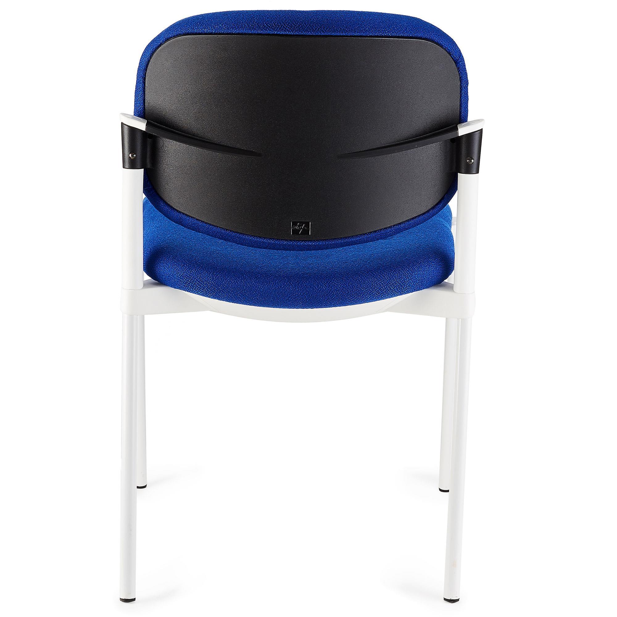 Silla de confidente eric respaldo acolchado en color azul for Sillas de escritorio comodas