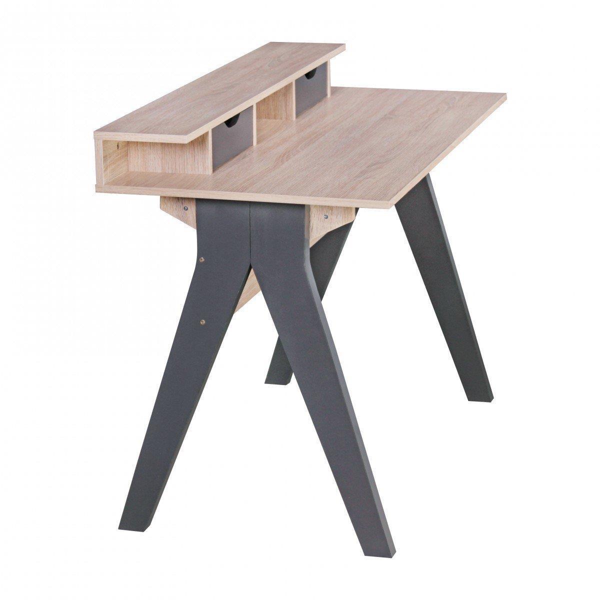 Mesa de ordenador mila superficie en madera 120x59x86 cm for Diseno mesa ordenador