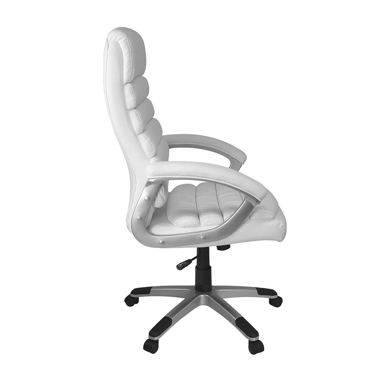 Silla de Oficina VALENCIA en Piel color Blanco - Silla de Oficina ...