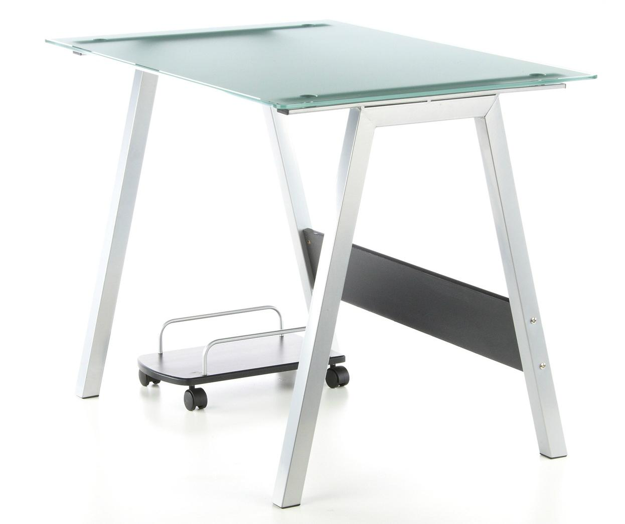 Mesa De Ordenador En Cristal Delta 76×100 Cm Mesa De Ordenador  ~ Mesas De Escritorio Para Ordenador