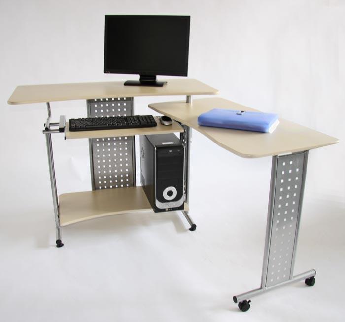 Mesa de ordenador hidra en madera color crema - Mesa ordenador madera ...