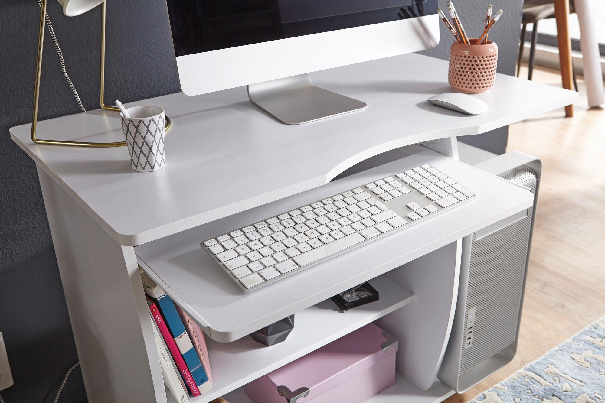 Mesa de ordenador duke bandeja para teclado y ruedas en - Mesa ordenador con ruedas ...