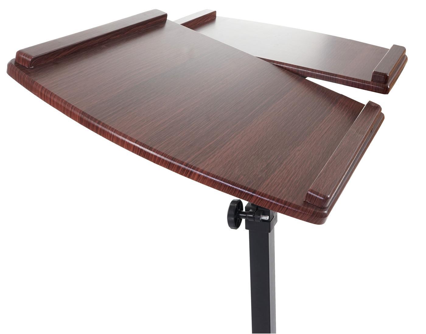 Mesa atril stand top superficie para ordenador en madera ajustable en altura y con ruedas - Mesas para ordenadores portatiles ...