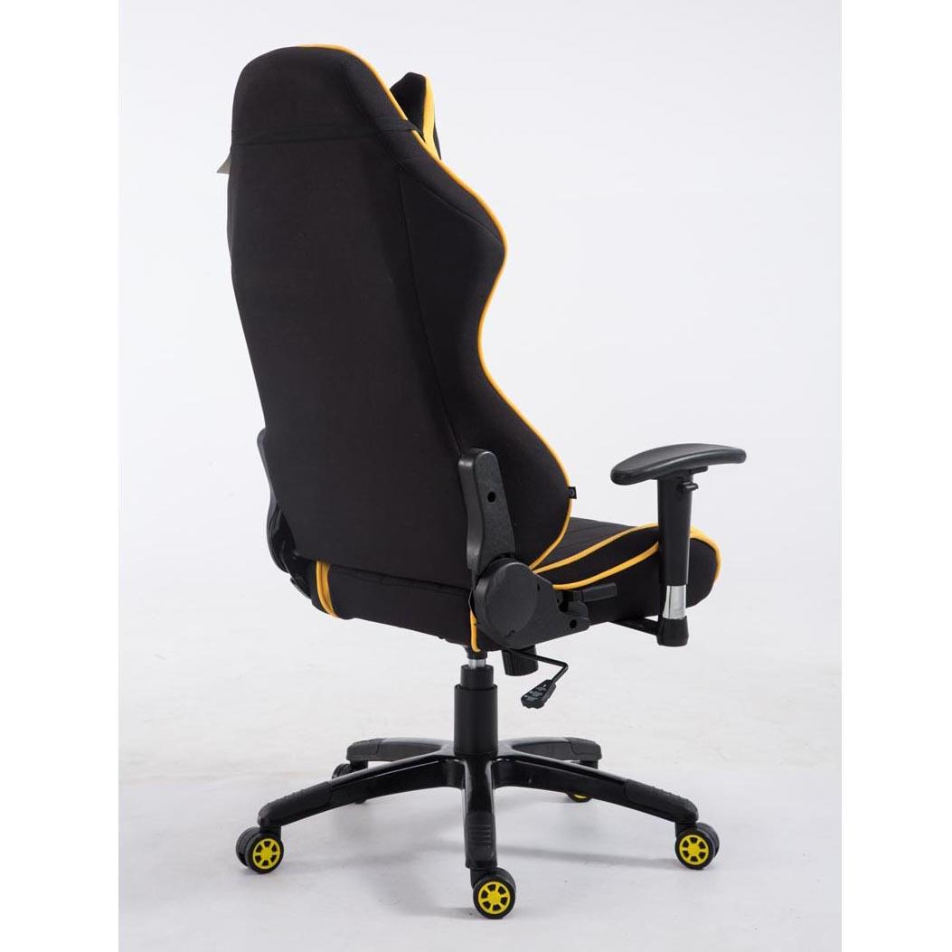 Silla gaming TURBO TELA, reclinable, con cojines, en color negro ...